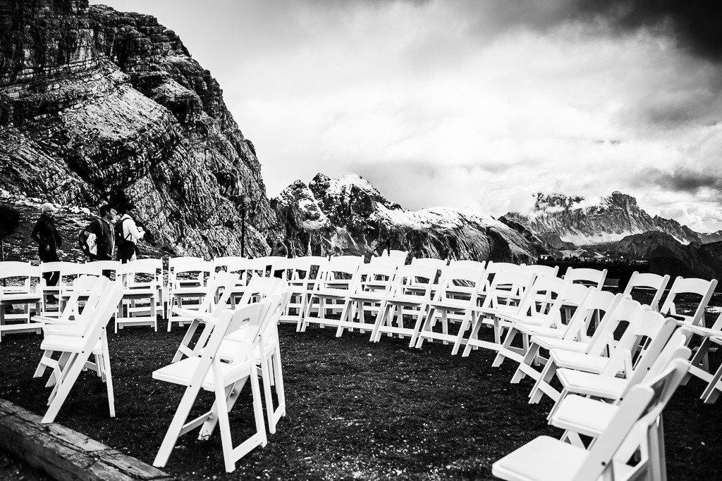 cerimonia matrimonio Averau Cortina
