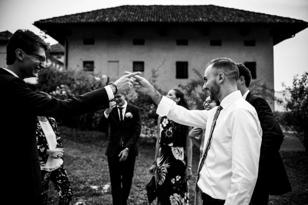 matrimonio ironico in bianco e nero