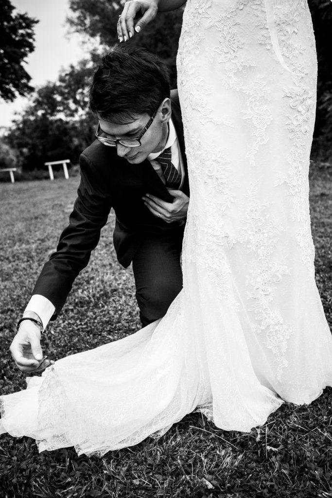 Matrimonio in bianco e nero a Belluno