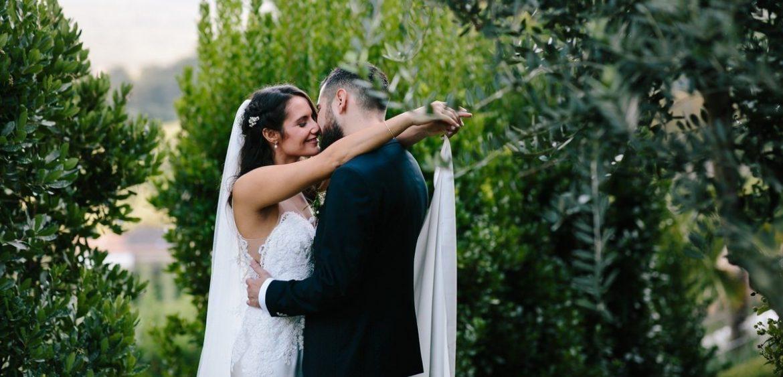 sposi intimi nella natura