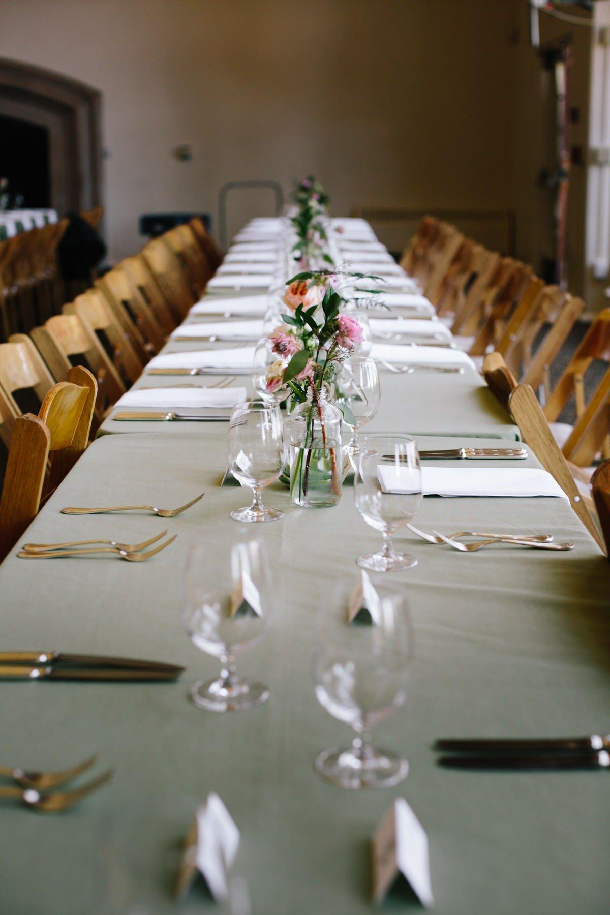 tavolo del matrimonio folk a San Francisco