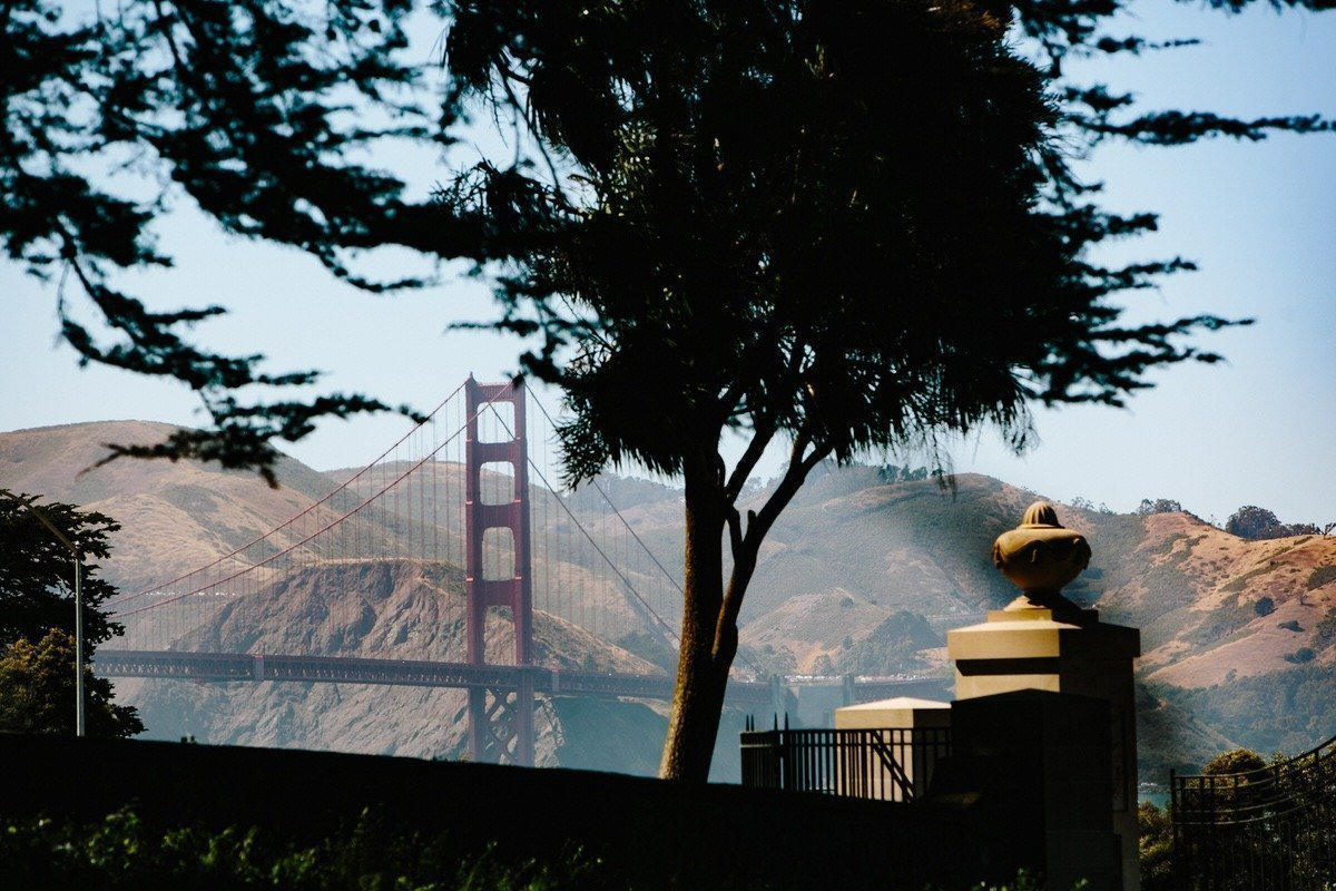 Golden Gate Bridge scenario del matrimonio